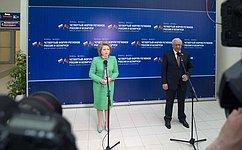 Внутри Союзного государства нет неразрешимых проблем– В.Матвиенко
