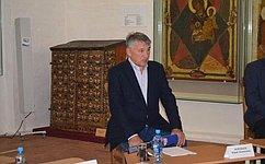 Ю. Воробьев: Русское географическое общество приложит усилия для развития национального парка вВологодской области