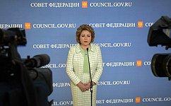 В. Матвиенко: Всфере оплаты ЖКХ необходимо навести порядок