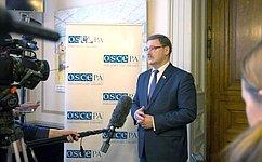 ОБСЕ остается единственной универсальной посоставу ипоохвату тем площадкой вЕвропе– К.Косачев