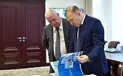 Состоялась встреча сенатора О.Селезнева сглавой Республики Адыгея М.Кумпиловым
