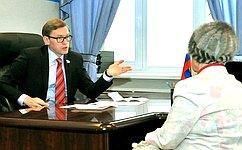 А.Костюков провел прием граждан
