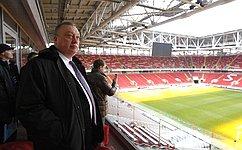 В.Тюльпанов высоко оценил готовность стадионов Москвы кпроведению крупнейших международных соревнований пофутболу