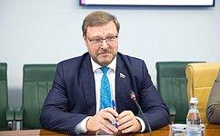 Мы рассчитываем наразвитие взаимодействия России иМолдовы, втом числе ивмежпарламентской сфере— К.Косачев