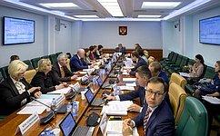 Комитет СФ посоциальной политике рекомендовал кодобрению верхней палатой парламента ряд федеральных законов
