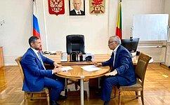 Б. Жамсуев провел встречу сгубернатором Забайкальского края