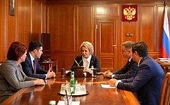 В. Матвиенко провела встречу сгубернатором Калининградской области А.Алихановым