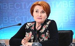 Н.Болтенко провела встречу сруководителями иведущими корреспондентами СМИ Новосибирской области