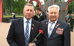 С. Березкин поздравил ветерана Великой Отечественной войны сюбилеем
