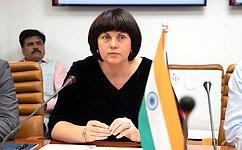 Е. Афанасьева: Между парламентариями России иИндии установлены истинно дружеские, тесные связи