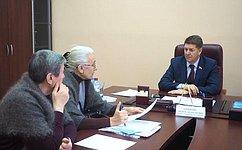 А. Шевченко: Прием граждан сиспользованием современных технологий помогает прямому общению