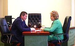 В. Матвиенко провела рабочую встречу сгубернатором Волгоградской области исовещание вобластной Думе