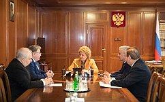 Председатель СФ В.Матвиенко иглава Мордовии В. Волков обсудили перспективы развития Республики