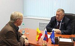 В. Николаев входе поездки вЧувашскую Республику провел прием граждан