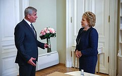 В. Матвиенко иВ.Андрейченко обсудили вопросы российско-белорусского парламентского взаимодействия