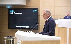 В. Пономарев рассказал освоей работе вкачестве полномочного представителя СФ вЦентральной избирательной комиссии РФ