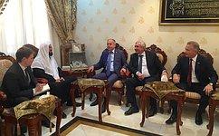Входе визита вКатар сенаторы договорились осотрудничестве сГенеральным секретарем Всемирного союза мусульманских ученых Али Аль-Карадаги