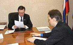 С.Рябухин провел прием граждан поличным вопросам вУльяновской области