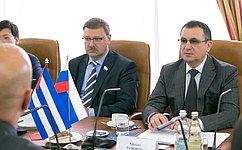 Н. Федоров провел встречу сделегацией кубинских героев-антитеррористов