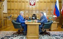 С. Лукин встретился сгубернатором Воронежской области А.Гусевым