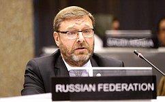 К. Косачев: МПС против санкций вотношении парламентариев