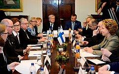 Межпарламентский диалог РФ иФинляндии вносит большой вклад вразвитие добрососедских отношений— Председатель СФ