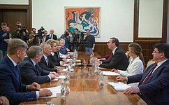 Состоялась встреча Председателя Совета Федерации В.Матвиенко иПрезидента Республики Сербии А.Вучича