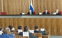 Молодые законодатели обсудили вСалехарде вопросы совершенствования законодательства всфере молодежной политики