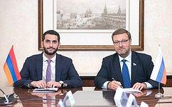Состоялось совместное заседание Комитета СФ помеждународным делам иПостоянной комиссии повнешним связям Национального Собрания Республики Армения
