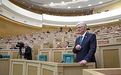 Председатель Совета Федерации В.Матвиенко поздравила с75-летием первого главу СФ В.Шумейко