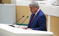 В. Бондарев: Наша главная задача— законодательное обеспечение национальной безопасности страны