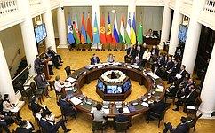 Сенаторы РФ воглаве сПредседателем Совета Федерации Валентиной Матвиенко приняли участие вмероприятиях весенней сессии МПА СНГ