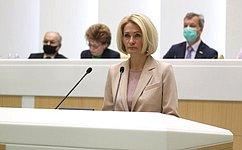 ВСовете Федерации выступила заместитель Председателя Правительства Российской Федерации В. Абрамченко