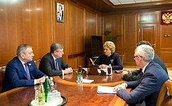 В.Матвиенко иИ.Васильев обсудили вопросы социально-экономического развития Кировской области