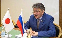 В. Озеров: Российско-японское межпарламентское взаимодействие набирает темп