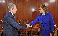 Спикер СФ обсудила сруководством Пермского края социально-экономическое развитие региона