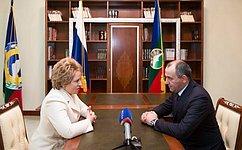 Председатель Совета Федерации иглава Карачаево-Черкесской Республики обсудили выполнение майских указов Президента России
