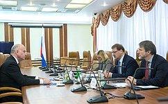 К. Косачев встретился сЧрезвычайным иПолномочным Послом Хорватии вРФ Т.Станичичем