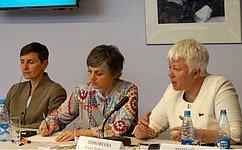 О.Тимофеева иЕ.Попова приняли участие вобсуждении роли женщин вгуманитарной работе