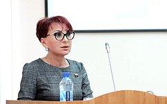 Т. Кусайко назаседании Мурманской областной Думы представила отчет опроделанной загод работе