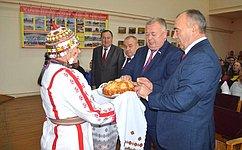 В. Николаев поздравил сельчан сзавершением осенних полевых работ