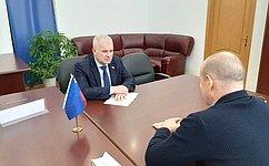С. Мартынов обсудил наприеме граждан вРеспублике Марий Эл тему поддержки внедрения инноваций
