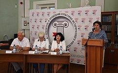 Е. Алтабаева приняла участие вработе Межрегиональной научно-практической конференции библиотекарей вСевастополе