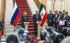 Россия иИран продолжат диалог порегиональной имеждународной повестке дня— Председатель СФ
