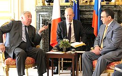 Н.Федоров: Между парламентами России иФранции должна существовать высокая степень взаимодействия икоординации
