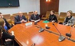 В. Рогоцкий: «Час эксперта» даст возможность сенаторам общаться совсемирно известными специалистами