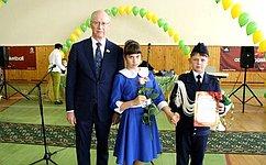 Н.Петрушкин наградил победителей VIII республиканского конкурса бального танца учащихся кадетских классов