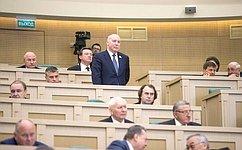 Д. Мезенцев избран председателем Комитета Совета Федерации поэкономической политике