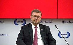 К.Косачев: Е.Примаков символизирует собой ту дипломатию, которую Россия исповедует сегодня