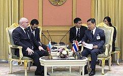 Делегация Совета Федерации воглаве сА.Клишасом посетила Королевство Таиланд